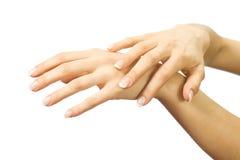όμορφα θηλυκά χέρια Στοκ Φωτογραφίες