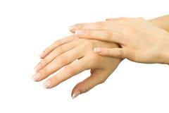 όμορφα θηλυκά χέρια Στοκ εικόνες με δικαίωμα ελεύθερης χρήσης