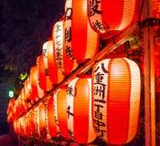 Όμορφα ιαπωνικά φανάρια εγγράφου - ΤΟΚΙΟ, ΙΑΠΩΝΙΑ - 12 Ιουνίου 2018 Στοκ εικόνα με δικαίωμα ελεύθερης χρήσης