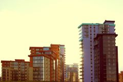 Όμορφα καινούργια σπίτια Στοκ Εικόνες