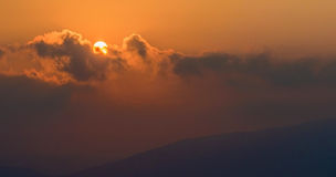 Όμορφα και τρομερά sunsets Στοκ Εικόνες