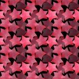 Όμορφα καλά χαριτωμένα θαυμάσια γραφικά φωτεινά καλλιτεχνικά διαφανή κόκκινα ρόδινα αστέρια στο μαύρο watercolor σχεδίων υποβάθρο διανυσματική απεικόνιση