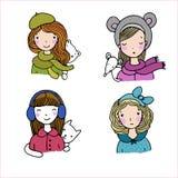 όμορφα καπέλα κοριτσιών Στοκ Φωτογραφίες