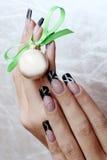 όμορφα καρφιά χεριών Στοκ εικόνα με δικαίωμα ελεύθερης χρήσης