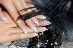 όμορφα καρφιά χεριών Στοκ εικόνες με δικαίωμα ελεύθερης χρήσης