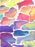 Όμορφα κεραμίδια watercolor Στοκ Εικόνες