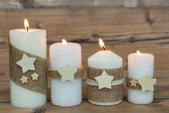 Όμορφα κεριά στο σπίτι Στοκ Εικόνα