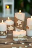 Όμορφα κεριά στο σπίτι Στοκ Εικόνες