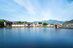 Όμορφα κινεζικά αρχαία χωριά Στοκ Εικόνα