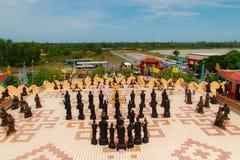 Όμορφα κινεζικά γλυπτά ύφους ` s σε Anek Kusala Sala Viharn Sien, ταϊλανδικός-κινεζικός ναός σε Pattaya, Ταϊλάνδη Ενσωματώθηκε Στοκ εικόνα με δικαίωμα ελεύθερης χρήσης