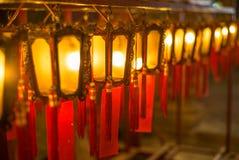 Όμορφα κινεζικά φανάρια στο βουδιστικό ναό του ατόμου Mo μέσα Στοκ φωτογραφία με δικαίωμα ελεύθερης χρήσης
