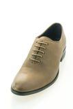 Όμορφα κομψότητας και πολυτέλειας παπούτσια ατόμων δέρματος καφετιά Στοκ Φωτογραφίες