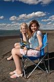 όμορφα κορίτσια δύο στοκ εικόνες