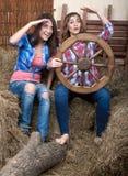 όμορφα κορίτσια δύο στοκ φωτογραφία