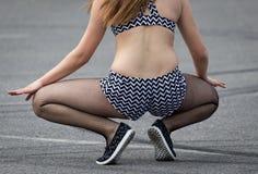 Όμορφα κορίτσια λειών σε μαύρο Pantyhose στοκ εικόνες