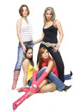 όμορφα κορίτσια προκλητικά Στοκ Φωτογραφία