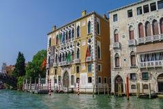 Όμορφα κλασσικά κτήρια στο μεγάλο κανάλι, Βενετία, Ιταλία Στοκ φωτογραφία με δικαίωμα ελεύθερης χρήσης