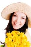 όμορφα λουλούδια που κ&rh Στοκ Εικόνες