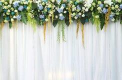 όμορφα λουλούδια υφάσματος φόντου πέρα από το λευκό Στοκ Φωτογραφίες