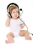 όμορφα μαύρα ακουστικά μωρών Στοκ φωτογραφία με δικαίωμα ελεύθερης χρήσης