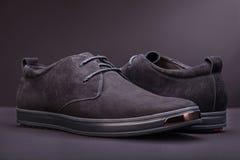 Όμορφα μαύρα παπούτσια σουέτ Στοκ εικόνα με δικαίωμα ελεύθερης χρήσης