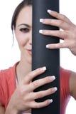 όμορφα μαύρα χέρια καμβά που Στοκ Φωτογραφία