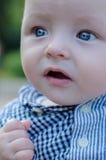όμορφα μεγάλα μπλε μάτια μω Στοκ Φωτογραφίες