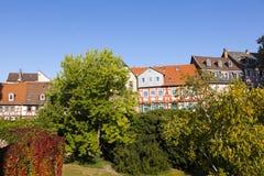 Όμορφα μισό-εφοδιασμένα με ξύλα σπίτια Στοκ φωτογραφία με δικαίωμα ελεύθερης χρήσης
