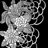 Όμορφα μονοχρωματικά λουλούδια καθορισμένα επίσης corel σύρετε το διάνυσμα απεικόνισης Στοκ φωτογραφία με δικαίωμα ελεύθερης χρήσης
