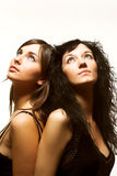όμορφα μοντέλα δύο Στοκ φωτογραφία με δικαίωμα ελεύθερης χρήσης