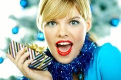 όμορφα μπλε Χριστούγεννα Στοκ Φωτογραφίες