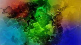 Όμορφα μόρια στο χρωματισμένο υπόβαθρο, τρισδιάστατη απεικόνιση Στοκ Εικόνες