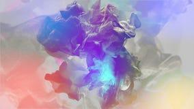 Όμορφα μόρια στο χρωματισμένο υπόβαθρο, τρισδιάστατη απεικόνιση Στοκ φωτογραφίες με δικαίωμα ελεύθερης χρήσης