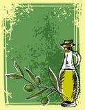 όμορφα ντυμένα μπουκάλι καρυκεύματα ελιών πετρελαίου Στοκ Φωτογραφία