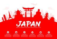 Όμορφα ορόσημα ταξιδιού της Ιαπωνίας Στοκ φωτογραφίες με δικαίωμα ελεύθερης χρήσης