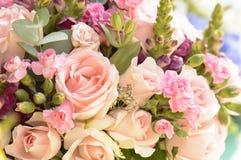 Όμορφα λουλούδια ανθοδεσμών λουλουδιών - μακροεντολή Στοκ Φωτογραφία