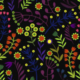 Όμορφα λουλούδια καθορισμένα, διανυσματικό άνευ ραφής σχέδιο Στοκ φωτογραφία με δικαίωμα ελεύθερης χρήσης