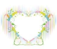Όμορφα λουλούδια με την καρδιά Στοκ φωτογραφία με δικαίωμα ελεύθερης χρήσης