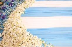 Όμορφα λουλούδια σκηνικού Στοκ Φωτογραφίες