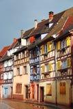 Όμορφα παλαιά σπίτια στη στο κέντρο της πόλης Colmar, Γαλλία Στοκ Εικόνες