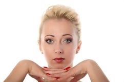 Όμορφα πρόσωπο και μάτια γυναικών Στοκ φωτογραφία με δικαίωμα ελεύθερης χρήσης