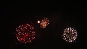 όμορφα πυροτεχνήματα απόθεμα βίντεο