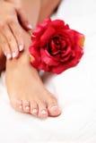 όμορφα πόδια χεριών Στοκ φωτογραφίες με δικαίωμα ελεύθερης χρήσης