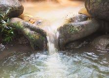 Όμορφα ρεύματα του νερού που ρέουν στο δάσος Στοκ φωτογραφίες με δικαίωμα ελεύθερης χρήσης