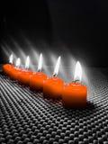 Όμορφα ρομαντικά κεριά σχεδίου για το γεύμα Στοκ Φωτογραφίες