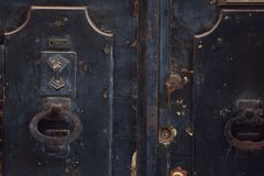 Όμορφα ρόπτρα πορτών Στοκ φωτογραφίες με δικαίωμα ελεύθερης χρήσης