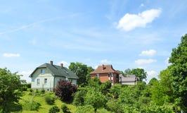 Όμορφα σπίτια, Λετονία Στοκ Εικόνα