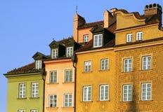 Όμορφα σπίτια στη Βαρσοβία Στοκ Εικόνες
