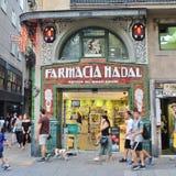 Όμορφα σπίτια στο Las Ramblas, Βαρκελώνη Στοκ εικόνες με δικαίωμα ελεύθερης χρήσης