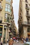Όμορφα σπίτια στο Las Ramblas, Βαρκελώνη Στοκ Φωτογραφία